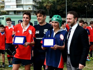 Premiazioni Festival Under 14 Rugby Sanremo